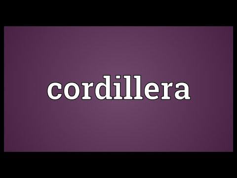 Cordillera Meaning