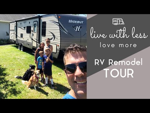 RV Tour: family of 5 living in a 31-foot travel trailer