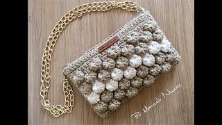 Clutch Cogumelo - Bolsa em Crochê por Marcelo Nunes