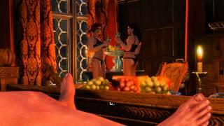 """The Witcher 3: Wild hunt (""""секс"""" с Трисс и Йениффер)"""