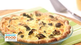 Brunch-friendly Broccoli Cheddar Quiche - Everyday Food With Sarah Carey