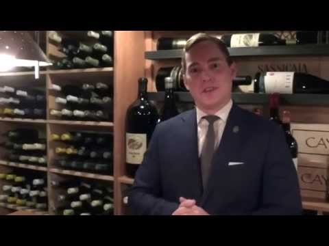 Rohrbaugh presents the wine cellar at Canlis in Seattle