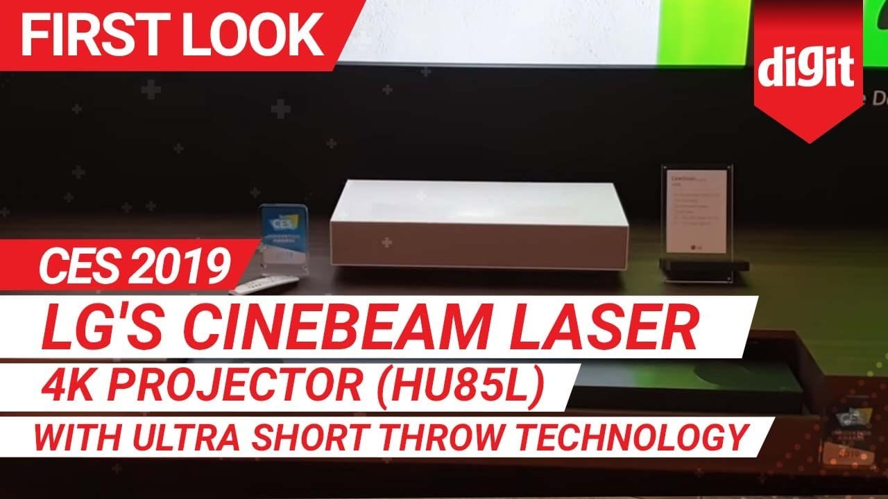 CES 2019: LG's CineBeam Laser 4K Projector (HU85L) with Ultra Short Throw  Technology | Digit in
