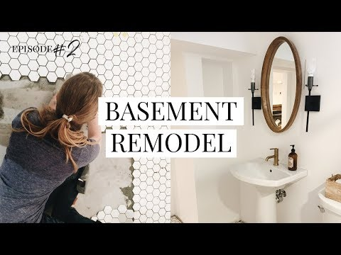 BATHROOM PROGRESS • Our DIY Basement Remodel Project
