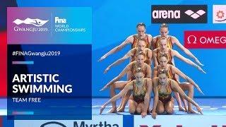 Artistic Swimming - Team Free | Top Moments | FINA World Championships 2019 - Gwangju