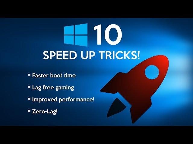 boost windows 10 performance