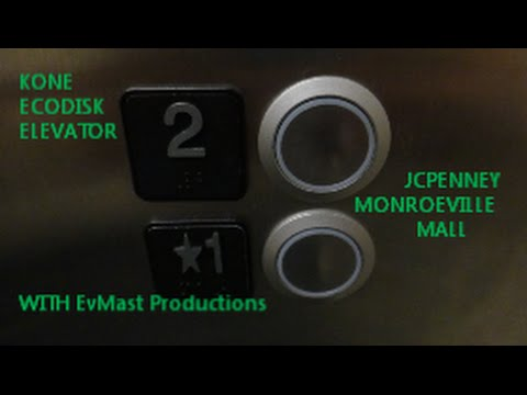2013 Kone MRL Traction Elevator @ JCPenney Monroeville Mall in Monroeville PA with EvMast