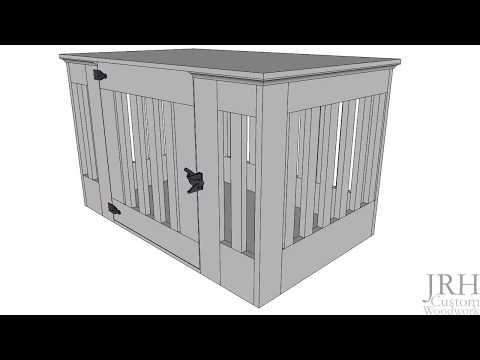 Custom Wooden Dog Crate