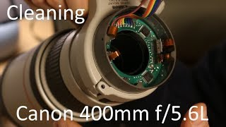 Cleaning rear lens on Canon 400mm f/5.6L USM