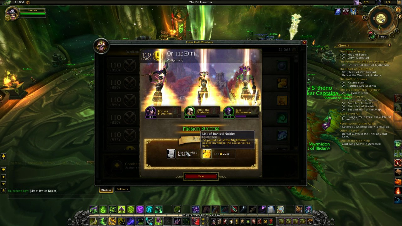 world of warraft a noble event legion quest guide youtube