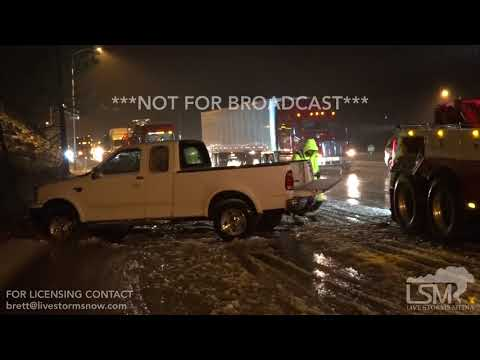 11-15-2017 - Truckee, CA - Truck in Ditch Icy Roads