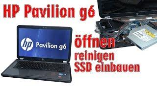 HP Pavilion g6 Laptop öffnen - Hewlett-Packard Lüfter reinigen HDD SSD Tastatur wechseln - [4K]
