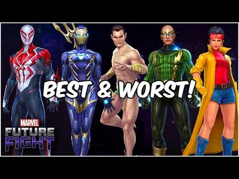 BEST AND WORST! (ALL SUBSCRIPTION HEROES) AUG 2019 - Marvel Future Fight
