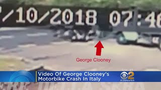 Watch: George Clooney's Motorbike Crashes In Italy