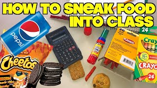 5 Smart Ways To Sneak Food Into Class When You're Hungry- School Hacks For Kids (HOW TO HACK)