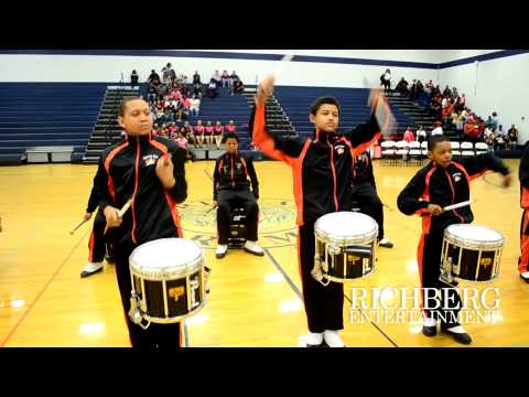 3) Aycock Middle School Drum Line at The Big Boom Spring Band Battle 2015 2