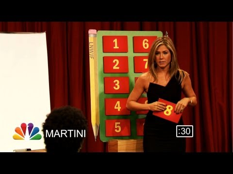 Pictionary with Jennifer Aniston, Lenny Kravitz and CeeLo Green, Part 1