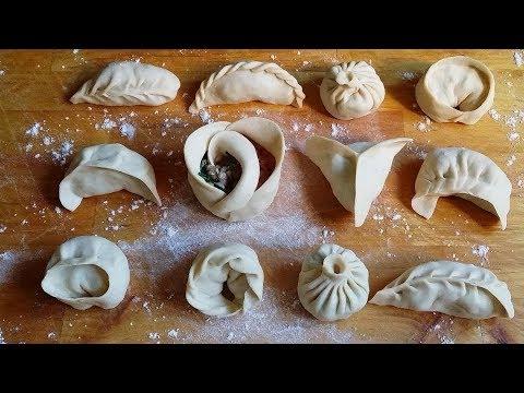How to wrap dumplings/momos(12ways)|Easy Ways!|How to fold momos|learn to make momo|TastyTreazure