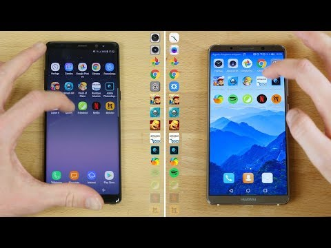 Speedtest Huawei Mate 10 Pro vs Galaxy Note 8