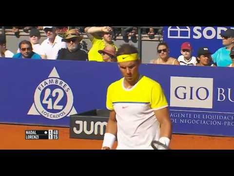 Rafael Nadal vs  Paolo Lorenzi. QF set-1 Argentina Open 2016
