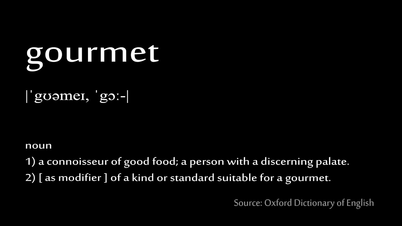How to pronounce - gourmet