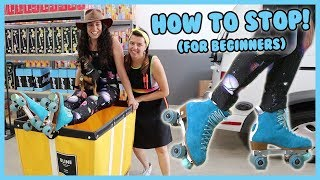How to Stop oฑ Roller Skates for Beginners