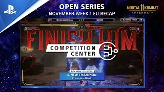 Mortal Kombat 11 |  Nivek Upgrades to the Top Nov Week 1 Recap | PS Competition Center