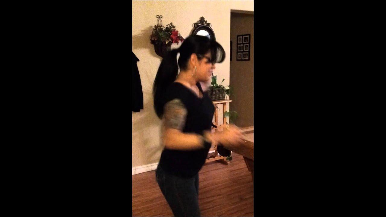 Drunk wife dancing