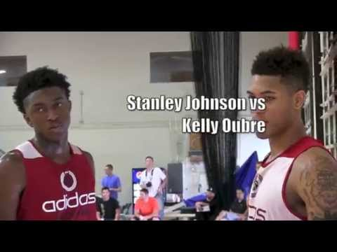 Stanley Johnson vs Kelly Oubre AMAZING MATCHUP at ADIDAS NATIONS 2014