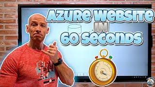 Host a Static Website in Azure in 60 Seconds