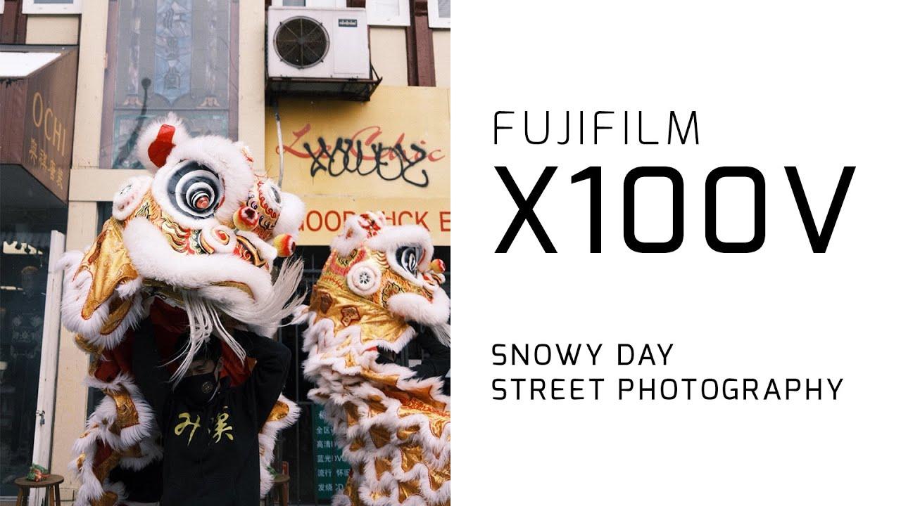 Download FUJIFILM X100V Snowday Street Photography