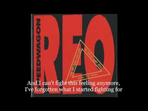 REO Speedwagon Can't fight this feeling (with lyrics)