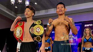 Weigh in Michael Dasmariñas and Naoya Inoue  June 18,2021 Mark Magsayo and Isaac Dogboe nagkita
