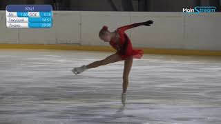Таисия Горнякова Первенство Москвы мл возраст 2021 Короткая программа