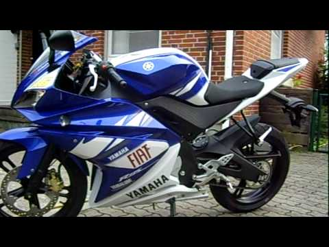 yamaha yzf r125 race replica youtube. Black Bedroom Furniture Sets. Home Design Ideas
