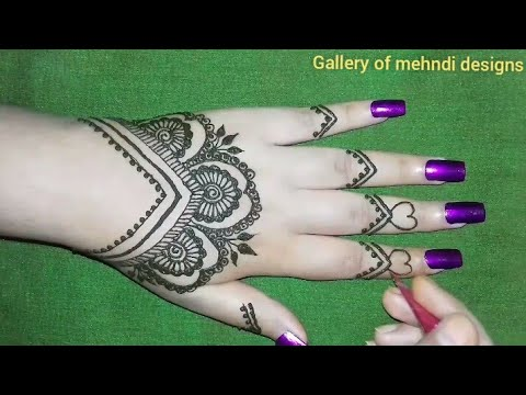 Very cute\u0026stylish back hand mehndi design tutorial for any
