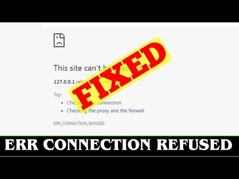 [SOLVED] NET::ERR_CONNECTION_REFUSED Error Code Problem