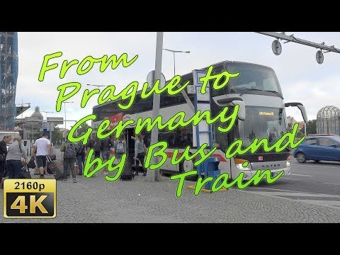 From Prague to Germany by Bus and Train - Czech Republic 4K Travel Channel