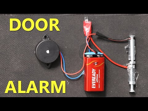 How to make DOOR ALARM using Mousepad that Beeps and Lights Up