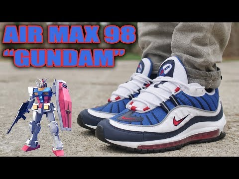 "NIKE AIR MAX 98 OG ""GUNDAM"" REVIEW AND ON FOOT !!!"