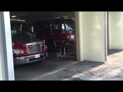 Tampa fire department engine and rescue 8 responding to a chest pain call