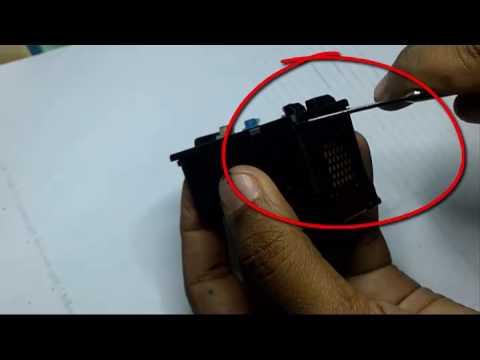 Cara Melubangi Cartridge Canon 810 IP2770 Tanpa Bor Untuk Mengisi Tinta Habis.