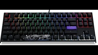 Unboxing My First Ducky! (Ducky One 2 RGB TKL RGB LED Double Shot PBT Mechanical Keyboard)
