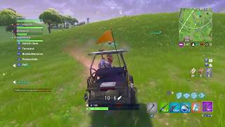Noob Boogie Bombas él mismo, Luego consigue atropellado por carro de golf // Fortnite Battle royale