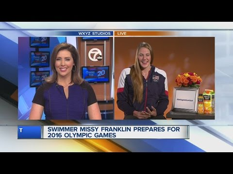 Olympic swimmer Missy Franklin talks to 7 Action News about preparing for the 2016 Olympic games