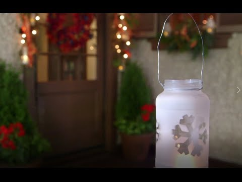 Christmas Craft: Frosted Lanterns | Biltmore