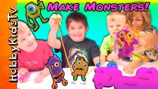 Make Funny Critters! HobbyKids Create Putty Creepy Weirdo Funny Monsters HobbyKidsTV