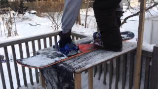 Backyard BOARD PARK! Snowboard deck launch! Thumbnail