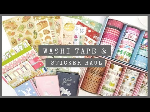 Washi Tapes & Sticker Haul! | Philippines