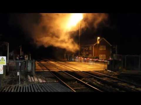 "Locomotive 34067 ""Tangmere"" passes through Angmering Station"